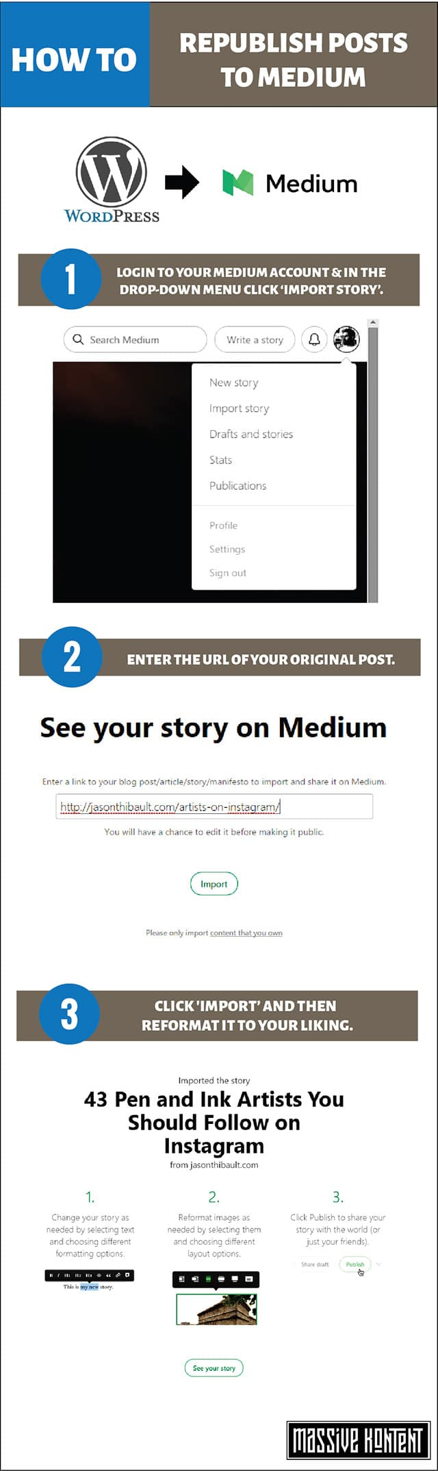 How to republish content on Medium