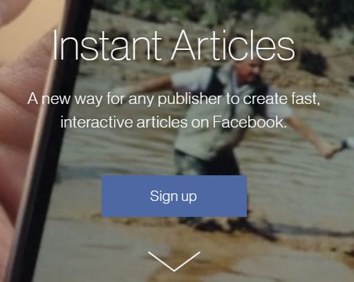 FB Instant Articles lead page