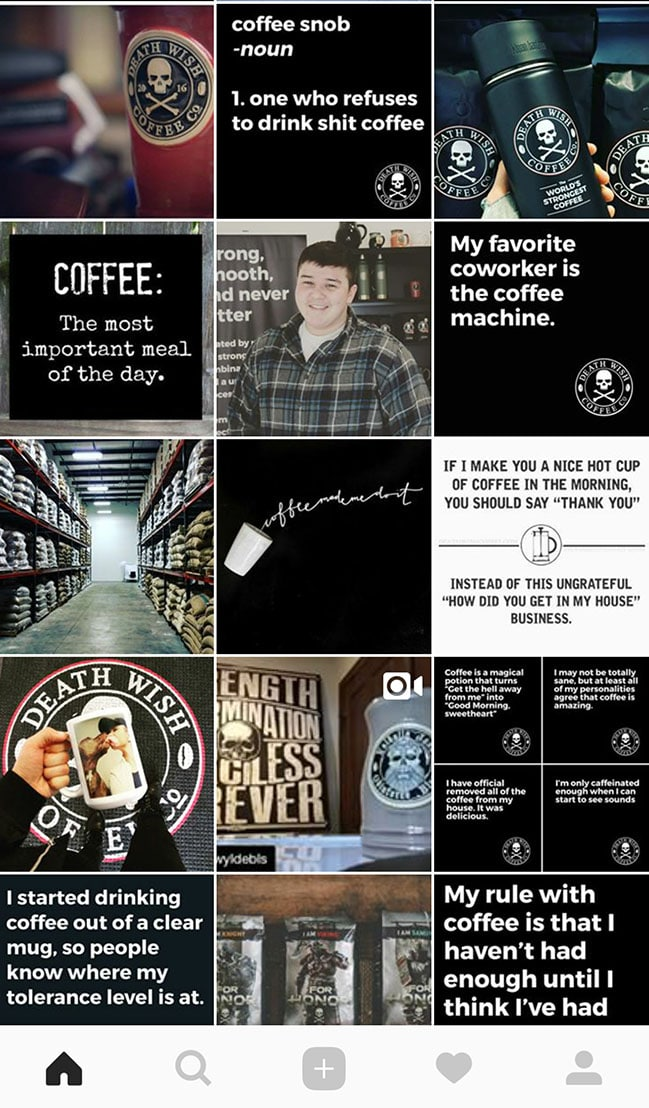 Deathwish Coffee's clever Instagram memes