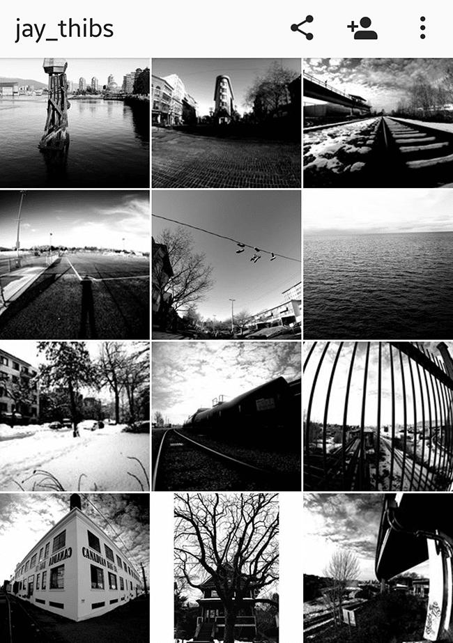 Jason Thibault's Instagram Page