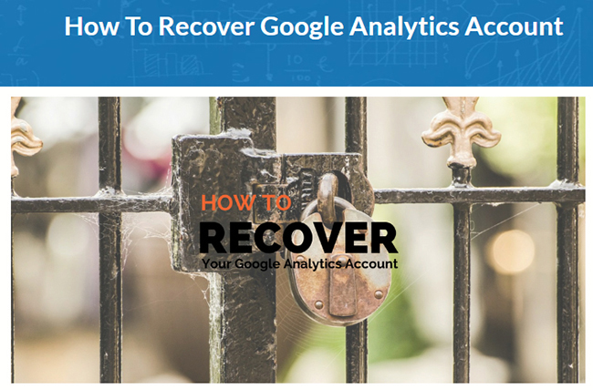 the process to recover a Google Analytics account