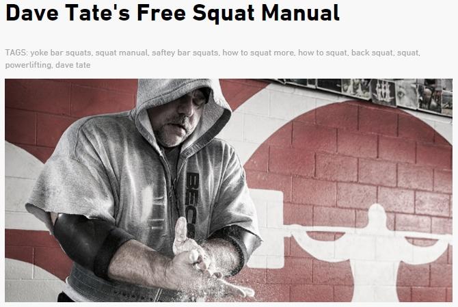 free squat manual