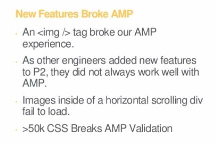 an tag broke AMP