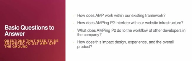 How does AMP work within our existing framework