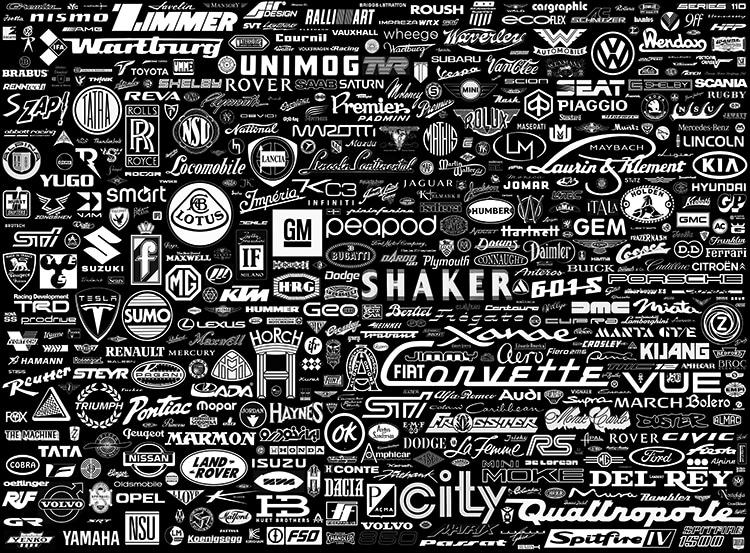 vintage car logo poster