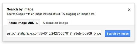 Paste image URL