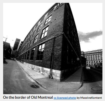 on the border of old montreal
