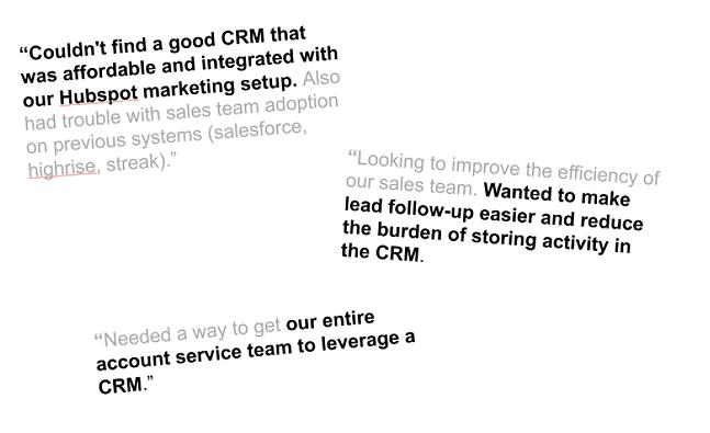 hubspot copywriting feedback