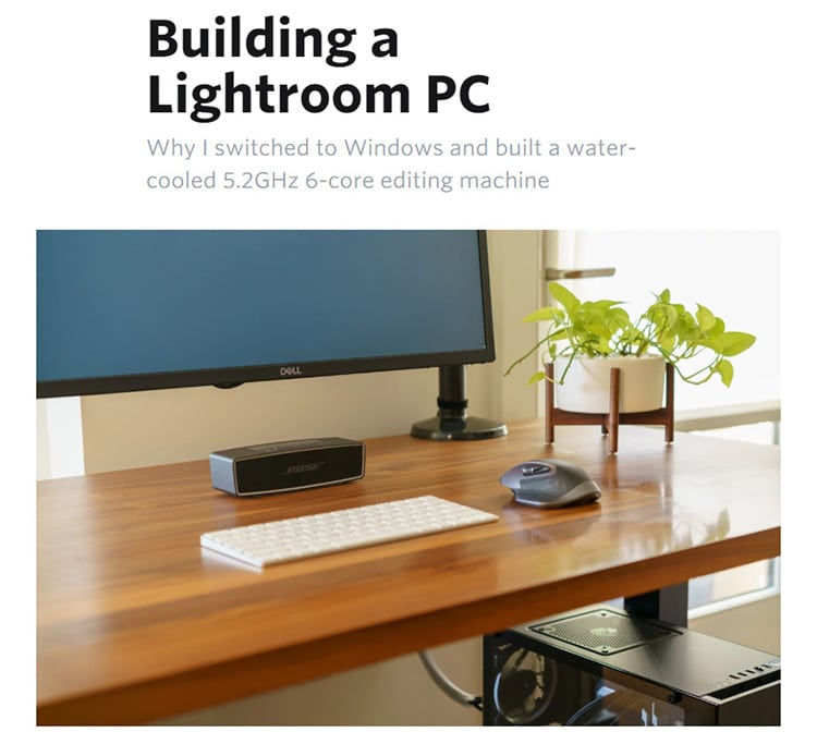 building a lightroom pc